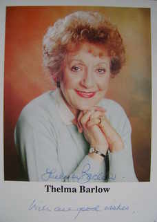 Thelma Barlow autograph
