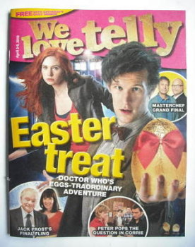 We Love Telly magazine - Matt Smith and Karen Gillan cover (3 April 2010)