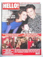 <!--1990-01-06-->Hello! magazine - Simon Le Bon and Yasmin Le Bon and Amber Rose Le Bon cover (6 January 1990 - Issue 84)