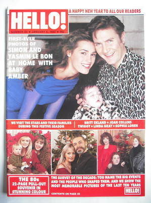<!--1990-01-06-->Hello! magazine - Simon Le Bon and Yasmin Le Bon and Amber
