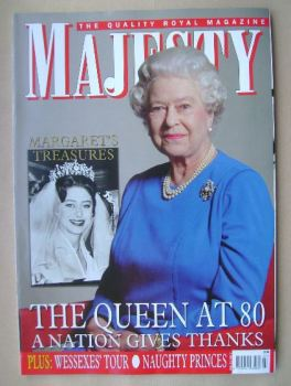 Majesty magazine - The Queen cover (July 2006 - Volume 27 No 7)