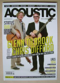 Acoustic magazine - Glenn Tilbrook and Chris Difford cover (November 2014 - Issue 98)