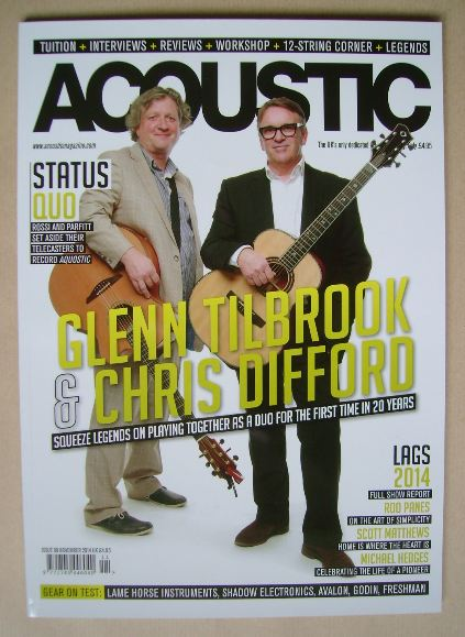 Acoustic magazine - Glenn Tilbrook and Chris Difford cover (November 2014 -