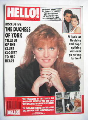 <!--1990-03-03-->Hello! magazine - The Duchess of York cover (3 March 1990