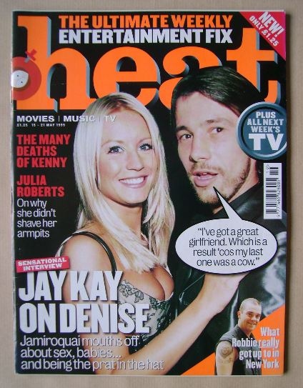 <!--1999-05-15-->Heat magazine - Denise Van Outen and Jay Kay cover (15-21