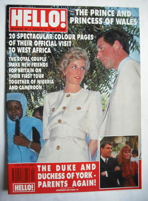 <!--1990-03-31-->Hello! magazine - Princess Diana and Prince Charles cover