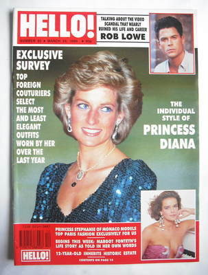 <!--1990-03-24-->Hello! magazine - Princess Diana cover (24 March 1990 - Is