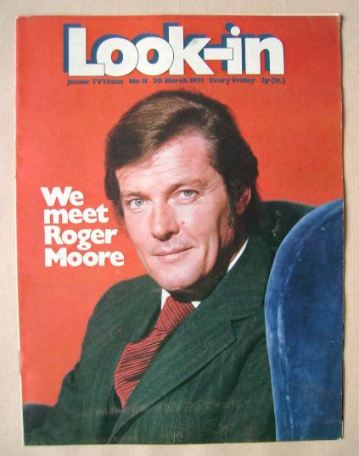 <!--1971-03-20-->Look In magazine - Roger Moore cover (20 March 1971)