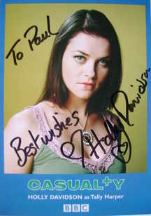 Holly Davidson autograph (ex Casualty actor)
