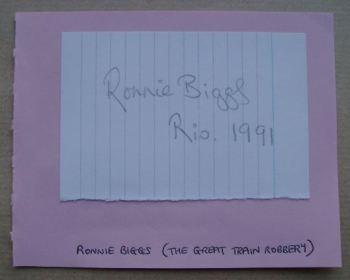 Ronnie Biggs autograph