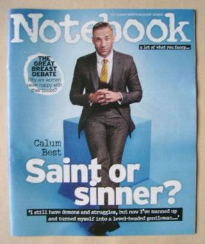 Notebook magazine - Calum Best cover (16 August 2015)