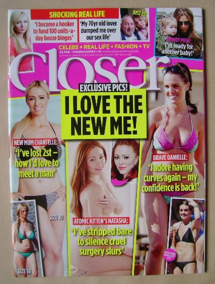<!--2013-02-23-->Closer magazine - I Love The New Me! cover (23 February -
