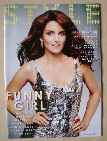 <!--2014-03-23-->Style magazine - Tina Fey cover (23 March 2014)