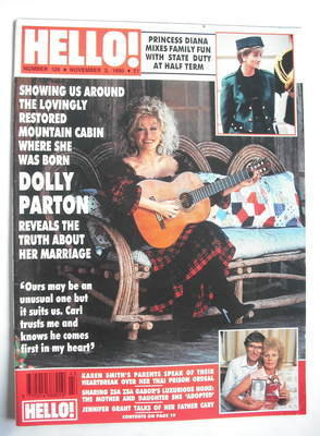 <!--1990-11-03-->Hello! magazine - Dolly Parton cover (3 November 1990 - Is