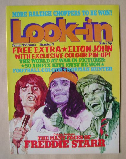 <!--1974-02-23-->Look In magazine - Freddie Starr cover (23 February 1974)