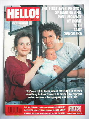 <!--1990-07-21-->Hello! magazine - Marina and Paul Mowatt cover (21 July 19