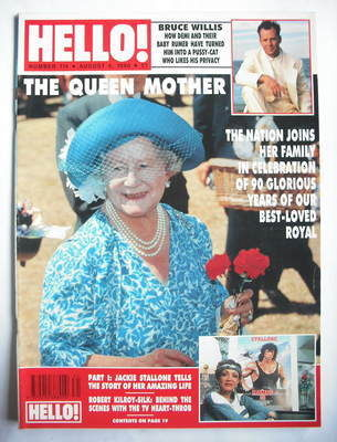<!--1990-08-04-->Hello! magazine - The Queen Mother cover (4 August 1990 -