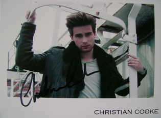 Christian Cooke autograph (hand-signed photograph)