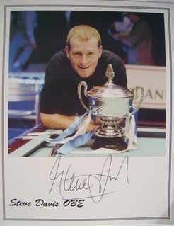 Steve Davis autograph