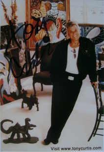Tony Curtis autograph