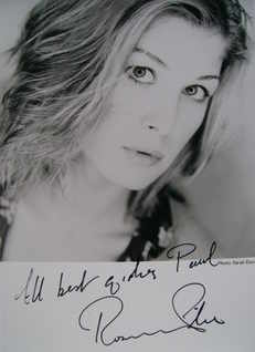 Rosamund Pike autograph