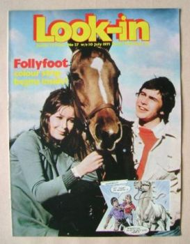<!--1971-07-10-->Look In magazine - Follyfoot cover (10 July 1971)
