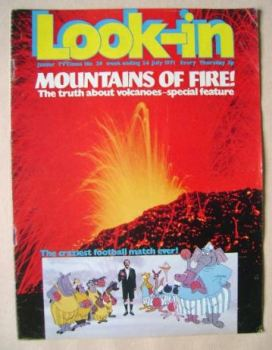 Look In magazine - Mountains Of Fire cover (24 July 1971)