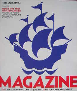 <!--2008-08-30-->The Times magazine - Blue Peter cover (30 August 2008)