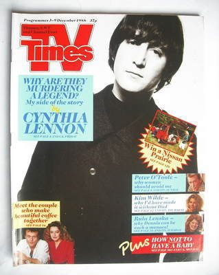 <!--1988-12-03-->TV Times magazine - John Lennon cover (3-9 December 1988)