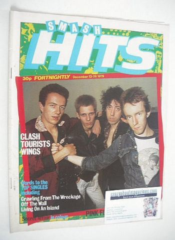 <!--1979-12-13-->Smash Hits magazine - The Clash cover (13-26 December 1979
