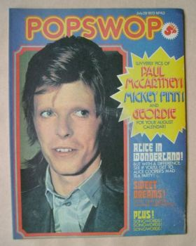 Popswop magazine - 28 July 1973 - David Bowie cover