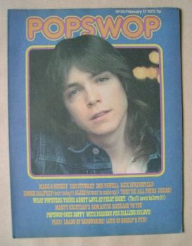 Popswop magazine - 17 February 1973 - David Cassidy cover