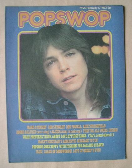 <!--1973-02-17-->Popswop magazine - 17 February 1973 - David Cassidy cover