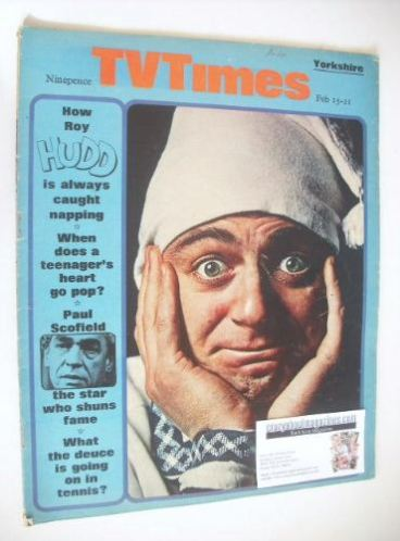 <!--1969-02-15-->TV Times magazine - Roy Hudd cover (15-21 February 1969)