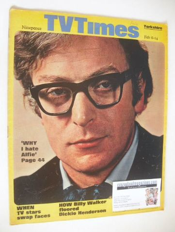 <!--1969-02-08-->TV Times magazine - Michael Caine cover (8-14 February 196