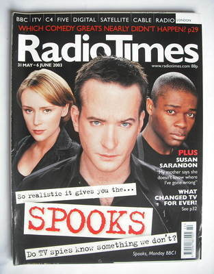 <!--2003-05-31-->Radio Times magazine - Matthew Macfadyen, Keeley Hawes and