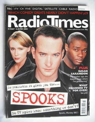 <!--2003-05-31-->Radio Times magazine - Matthew Macfadyen, Keeley Hawes and