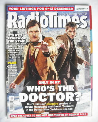<!--2008-12-06-->Radio Times magazine - David Tennant, David Morrissey and
