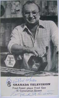 Fred Feast autograph (ex-Coronation Street actor)