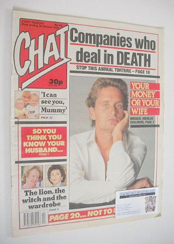 <!--1989-10-28-->Chat magazine - Michael Douglas cover (28 October 1989)
