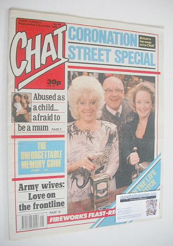 <!--1989-11-04-->Chat magazine - Coronation Street Special cover (4 Novembe