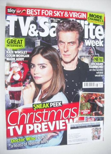 <!--2014-11-29-->TV&Satellite Week magazine - Doctor Who cover (29 November