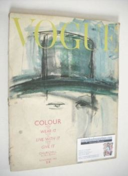 British Vogue magazine - November 1962 (Vintage Issue)