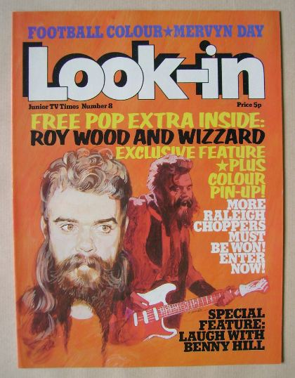 <!--1974-03-02-->Look In magazine - Roy Wood cover (2 March 1974)