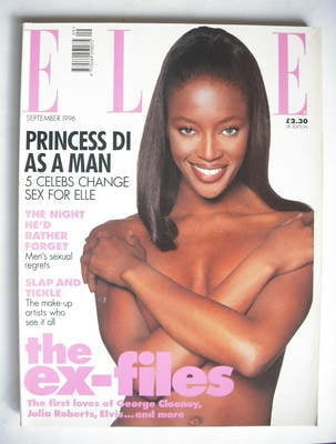 <!--1996-09-->British Elle magazine - September 1996 - Naomi Campbell cover