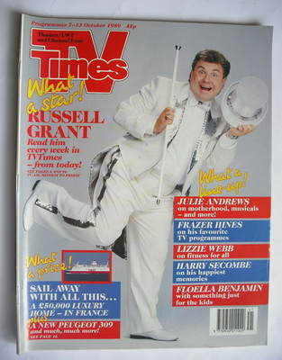 <!--1989-10-07-->TV Times magazine - Russell Grant cover (7-13 October 1989