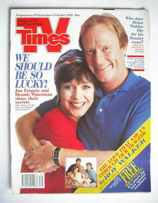 <!--1990-09-29-->TV Times magazine - Jan Francis and Dennis Waterman cover