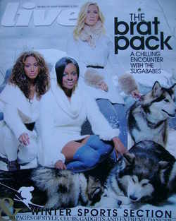 <!--2007-11-25-->Live magazine - Sugababes cover (25 November 2007)