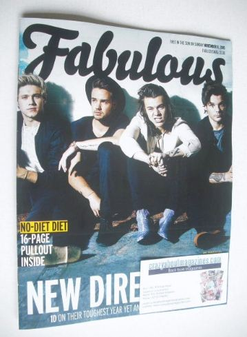 <!--2015-11-08-->Fabulous magazine - One Direction cover (8 November 2015)