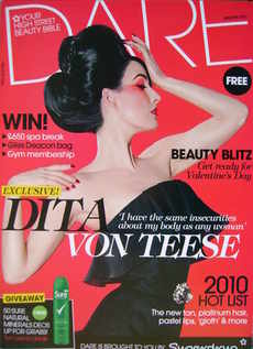 Dare magazine - Dita Von Teese cover (January/February 2010)